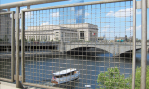 Wire Mesh used in Railing along River