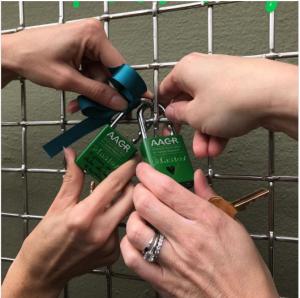 Lock Love Fence meets Lock Crimp Mesh