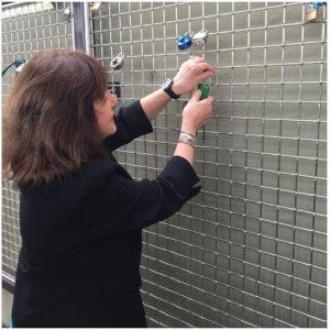 American Association for Cancer Research (AACR) CEO Margaret Foti places a Love Lock on Philadelphia's new Hope Fence. Courtesy of AACR
